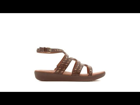 5d85fb670 FitFlop Strata Leather Gladiator Sandal - YouTube