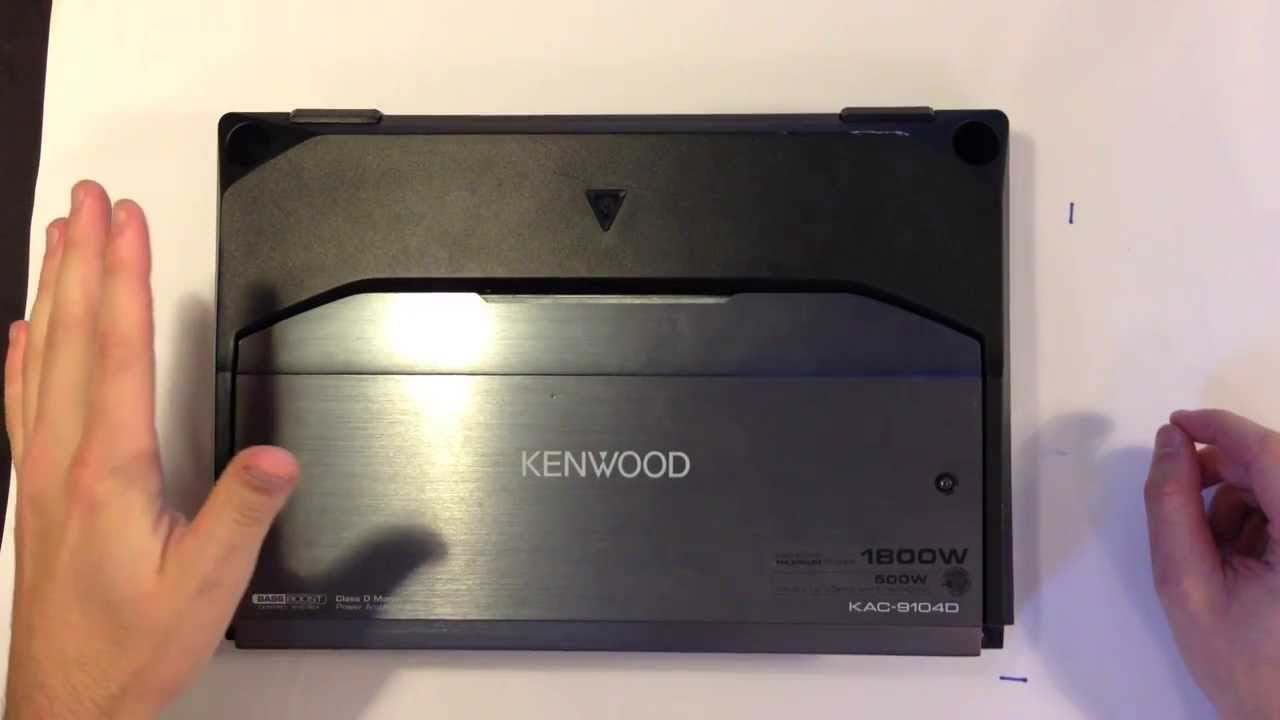 small resolution of kenwood sub amp review and install instructions kac 9104d mono amplifier youtube