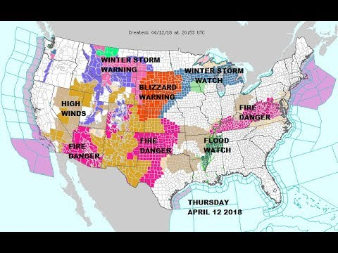 BLIZZARD WARNINGS WESTERN PLAINS STORM HEADS EAST. SEVERE WEATHER FRIDAY SATURDAY GULF STATES