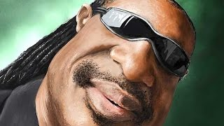Digital Painting Caricature of Stevie Wonder - Time Lapsed