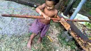 SHAQ ATTACK!!! Lol... My nephew showun