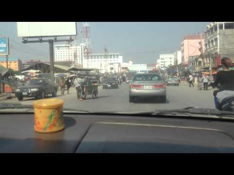 Poipet - Aranyaprathet land border crossing Thailand - Cambodia