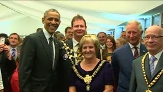 Obama attends royal reception at NATO summit