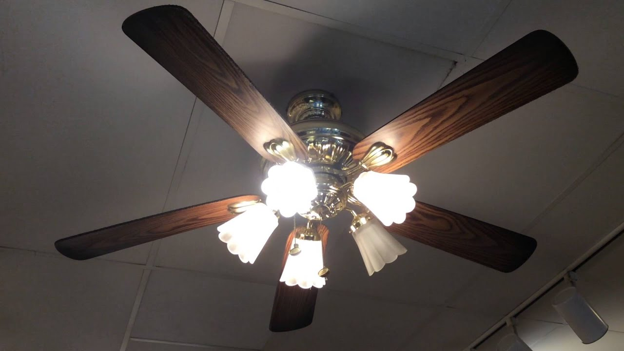 "52"" Unknown Harbor Breeze Ceiling Fans in an Ice Cream Shop"
