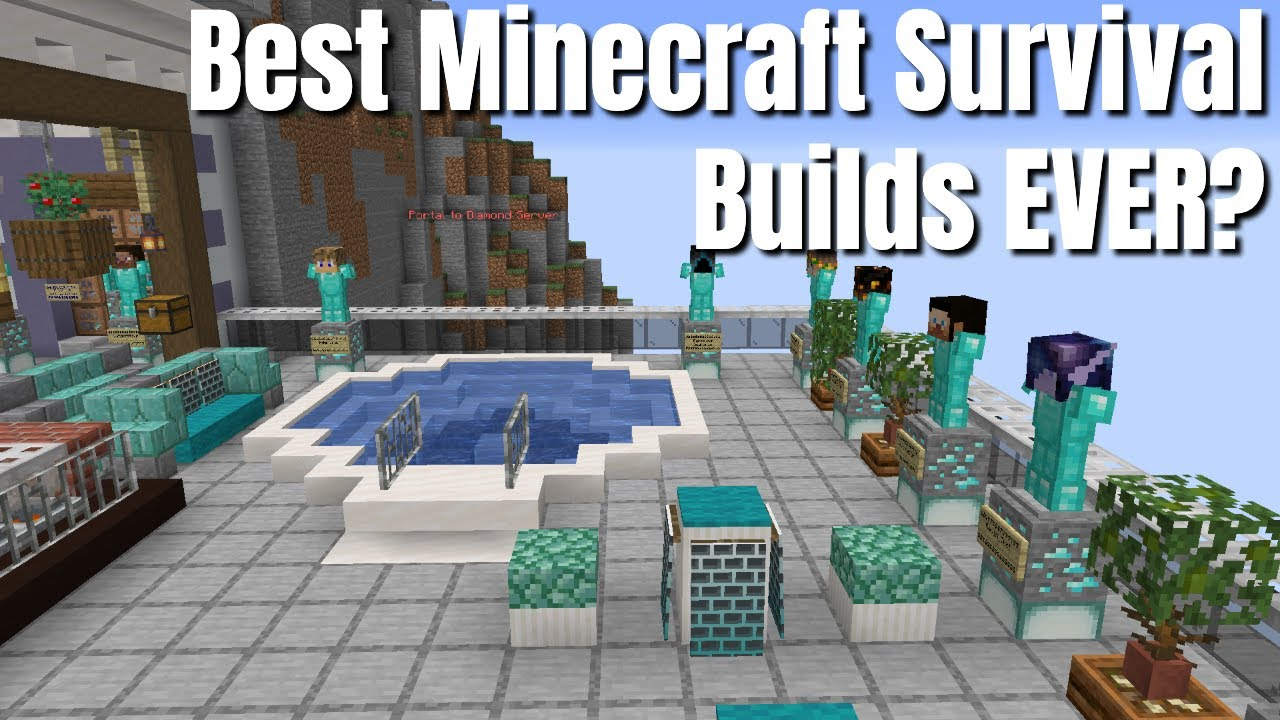 SEVEN of the BEST Minecraft Builds you will see on a Minecraft