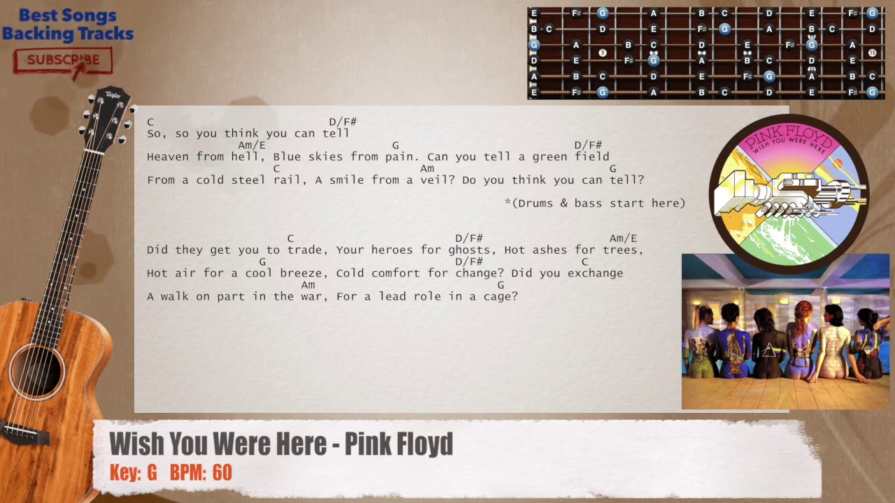 wish you were here guitar chords pdf
