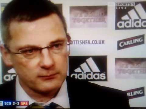 Craig Levein Walks Out Of Interview