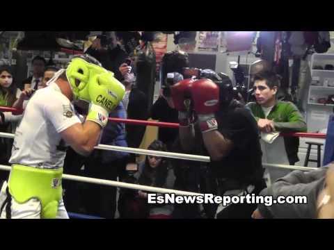 Boxing Star Canelo Alvarez Sparring Derek Innis