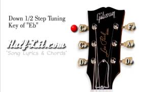 half step down tuning  (e) - tune your guitar 1/2 step down