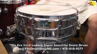 Ludwig Super Sensitive Snare 5x14 - '70's Era - The Drum Shop North Shore