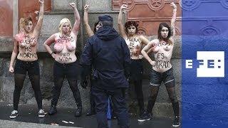 Femen contra los Antiabortistas