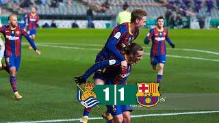 Real Sociedad Vs Barcelona 1-1 (Penalty 2-3) All Goals & Highlights 13/01/2021 HD