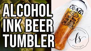 Alcohol Ink Beer Tumbler