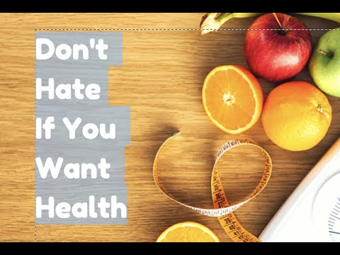 Why Haters Can't Be Healthy
