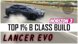 Forza Horizon 3 - Mitsubishi Lancer Evolution Build + Tune Download - FH3 Lancer Evo Build