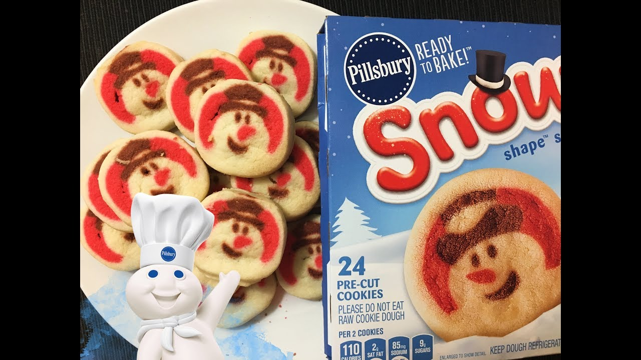 Pillsbury Snowman Shape Sugar Cookies Youtube