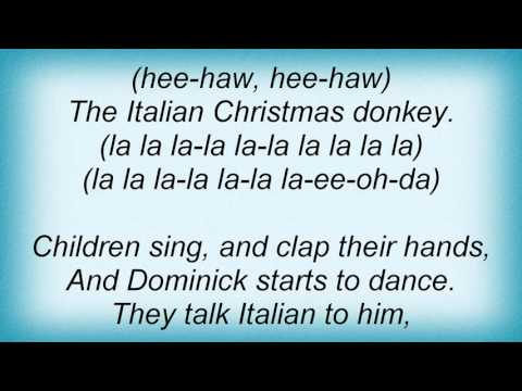 Lou Monte - Dominick The Donkey Lyrics