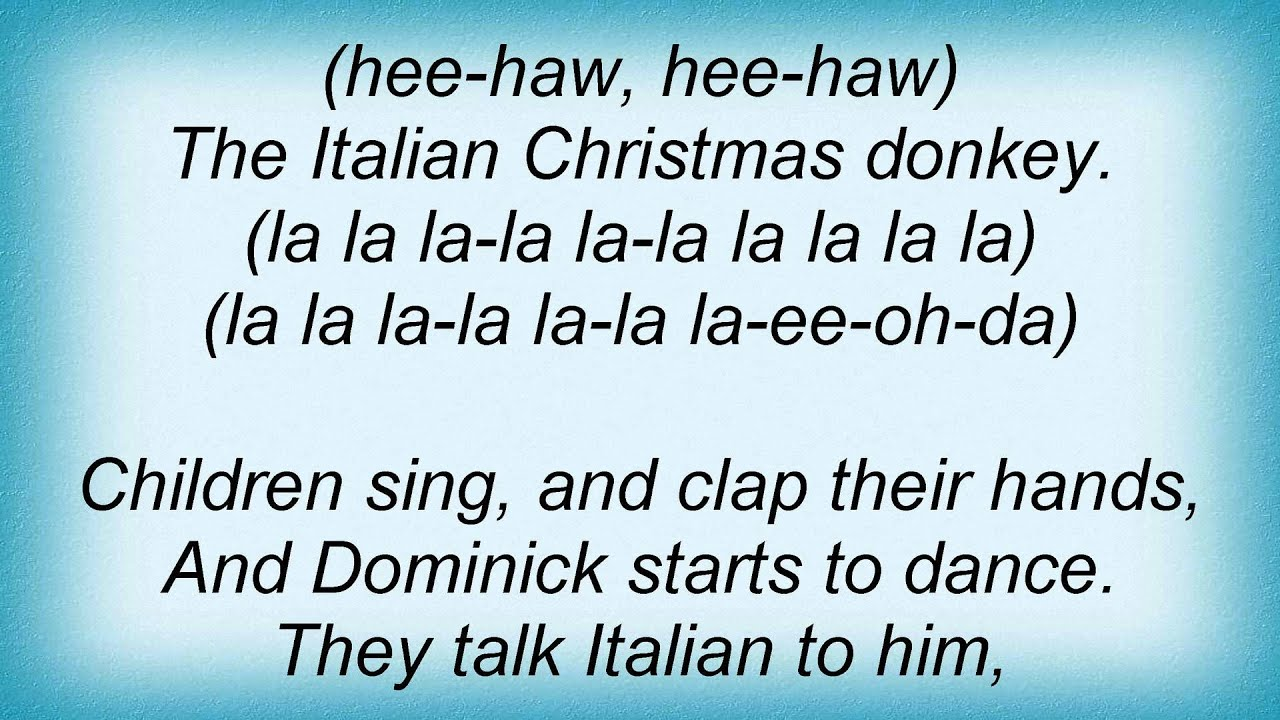 dominick the donkey you source lou monte dominick the donkey s - Dominic The Christmas Donkey