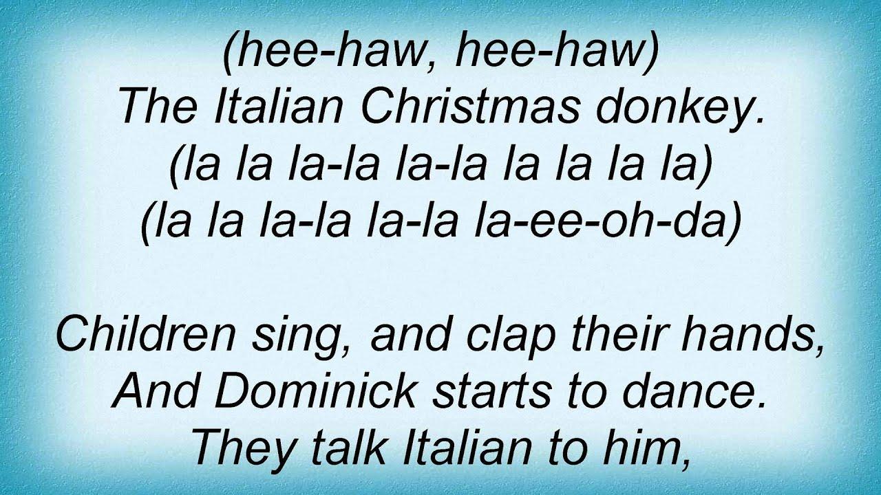 lou monte dominick the donkey lyrics - Dominick The Christmas Donkey Lyrics