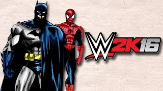 WWE 2K16 BATMAN x SPIDERMAN Momen Lucu Smackdown