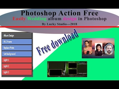 Auto Album Design Action in photoshop 2018 by Lucky Studio in hindi