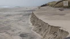 Sturmfluten treffen Wangerooger Strand schwer