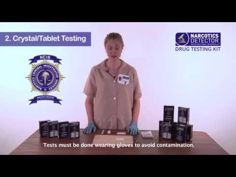 2  Crystal Tablet Testing - Narcotics Detector Training