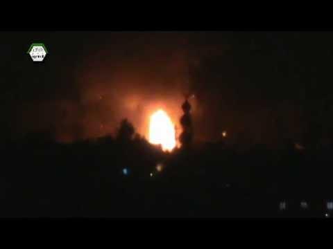 هام للإعلام وخطير جداً جداً - دمشق :: جوبر لحظة انفجار ضخم جداً 2013/4/27