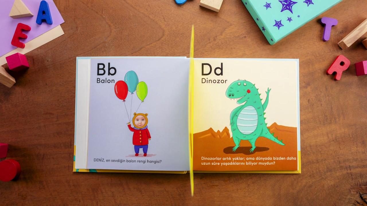 Benim Alfabe Kitabım - Fotoğraflı ve Kişiye Özel - Çocuklar için en özel hediye