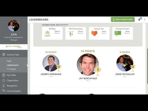 Teamphoria Full Demo of Employee Recognition, Reviews, and Awards