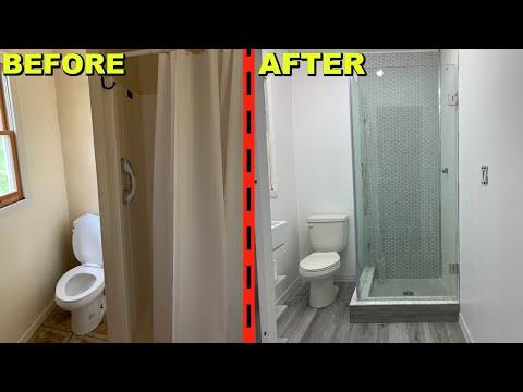 Small Bathroom Renovation! DIY Full Custom Shower Using Schluter Kerdi Shower System