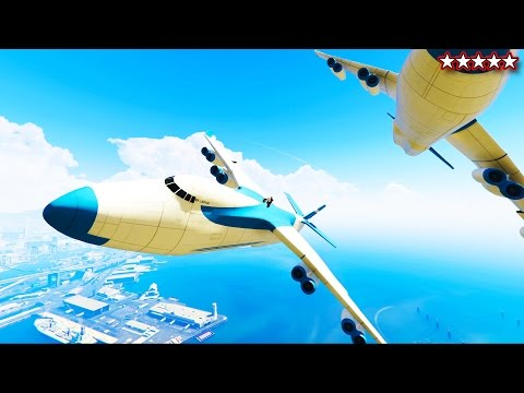 GTA 5 MODDED CARGO PLANES ONLINE - EPIC CARGO PLANE STUNTS GTA 5 - (GTA 5 Funny Moments)