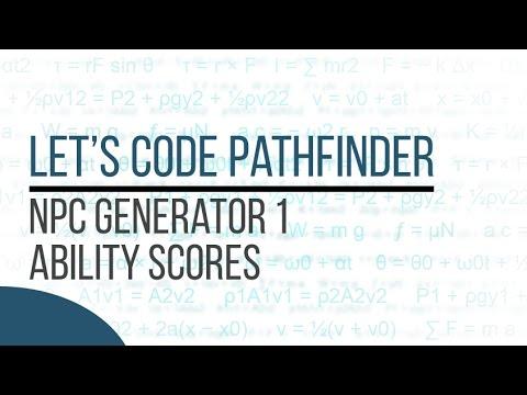 Let's Code Pathfinder - NPC Generator 1