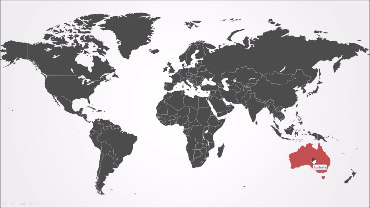 Powerpoint Global Map.Interactive World Map In Powerpoint Youtube