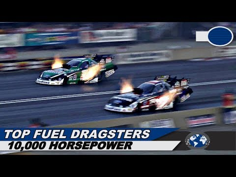 5 Minutes of 10,000 Horsepower, 300 MPH | Top Fuel Dragsters & Funny Cars