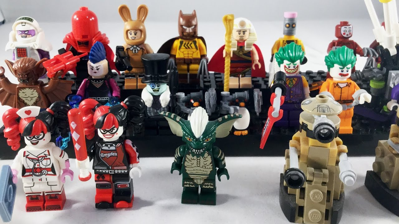 the lego batman movie villain minifigure collection
