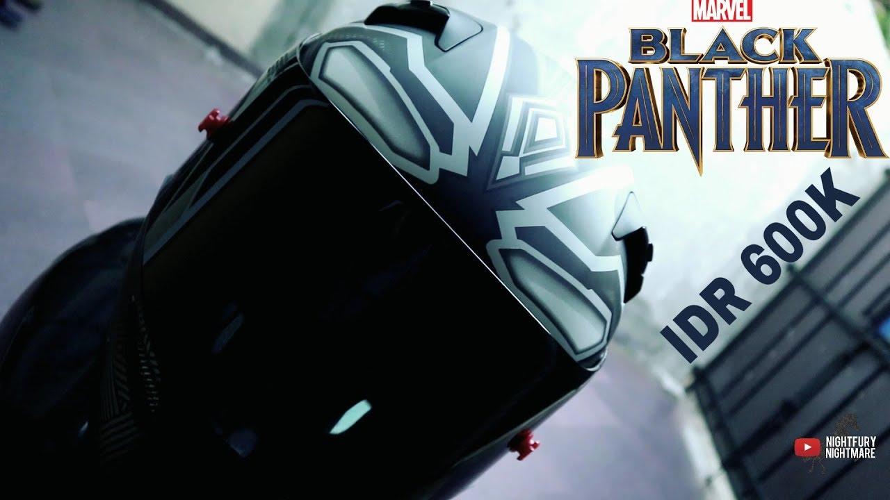 unboxing review helm kyt black panther youtube. Black Bedroom Furniture Sets. Home Design Ideas