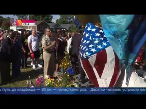 Похороны в Луисвилле. Люди прощаются с Мухаммедом Али