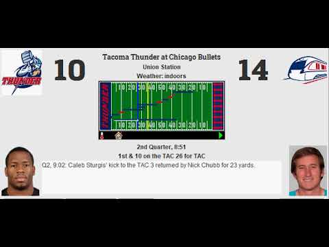 Week 2: Tacoma Thunder (0-1) @ Chicago Bullets (0-1)