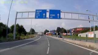 Grenzübergang CZ-D bei Furth im Wald Juli 2013. Border Crossing Czech Republic to Germany