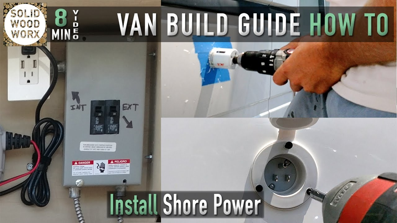 12v wiring diagram for boats honda today 50 how to wire your vehicle shore power hookups youtube