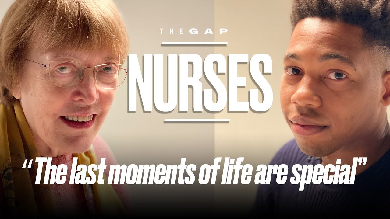 Old Nurse Meets Young Nurse | The Gap | LADbible