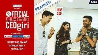Official CEOgiri Radio City Prank 3: Sumeet Vyas Pranks RJ Karan At Radio City