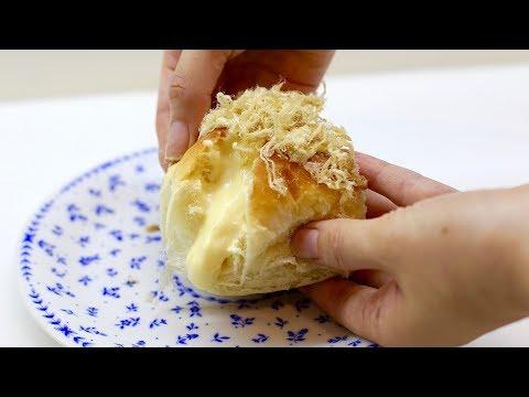 NO KNEAD DINNER ROLL (custard filling) - BÁNH MÌ CHÀ BÔNG PHÔ MAI (KHÔNG NHỒI BỘT)