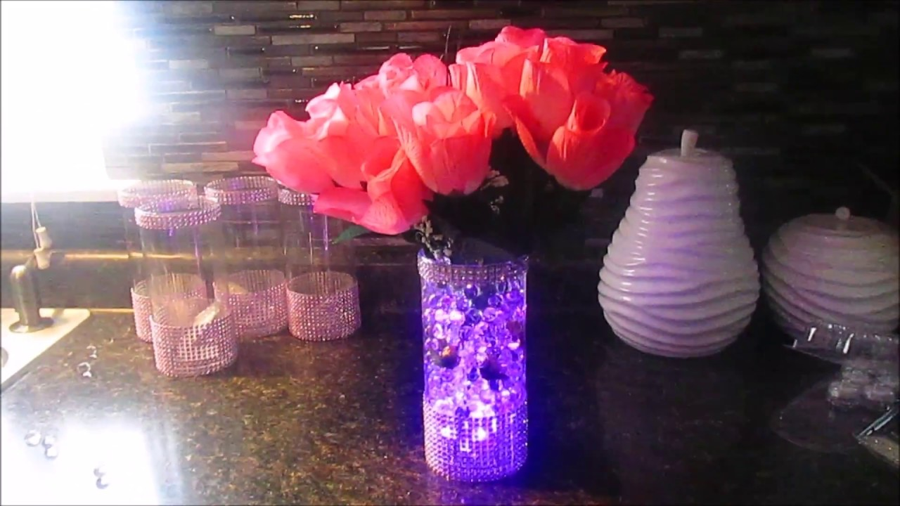 5f8fd6cb816a DIY  Bedazzled Baby Shower Centerpieces - YouTube