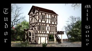 Tudor Mill Dollhouse Cnc Router Laser Cutter Plans Dxf Cdr
