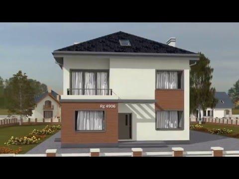 Проект двухэтажного дома Rg4906