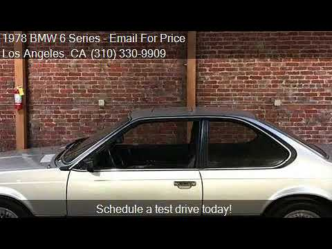 1978 BMW 6 Series 635CSi Euro for sale in Los Angeles, CA 90 - YouTube