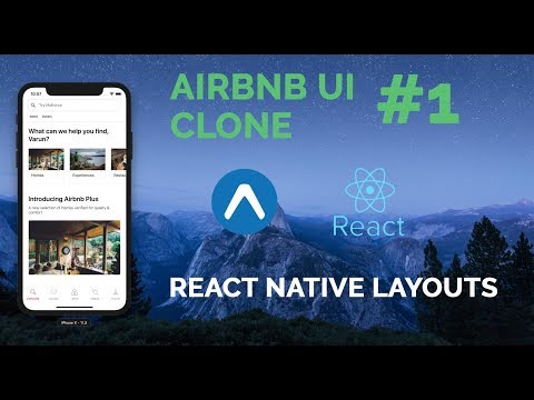 #1 Airbnb UI Clone | React Native | Expo | Layout Series