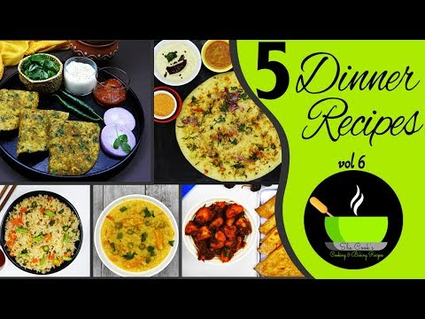 5 Healthy And Easy Dinner Recipes | Quick And Easy Indian Dinner Recipes | 5 Quick Dinner Ideas